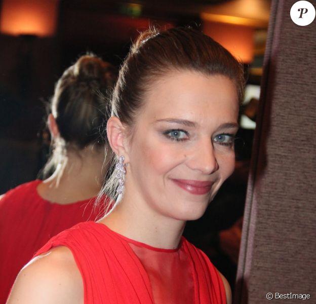 Céline Sallette (lauréate du prix Romy Schneider 2013) lors de la remise des prix à l'hôtel Hyatt, Paris, le 11 mars 2013.