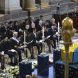 Le prince Daniel, la princesse Victoria, le roi Carl XVI Gustav, la reine Silvia, le prince Carl Philip, la princesse Madeleine et son fiance Chris O'Neill ont assisté aux funérailles de la princesse Lilian de Suède dans la Chapelle Royale de Stockholm le 16 mars 2013