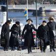 De nombeux invités avaient répondu présents lors des funérailles de la princesse Lilian de Suède, le 16 mars 2013 à Stockholm