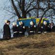 Funérailles de la princesse Lilian de Suède, le 16 mars 2013 à Stockholm au cimetière du parc Haga
