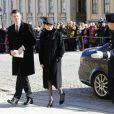 H.E. Mr. Paul Charles Johnston, Ambassadeur du Royaume-Uni et Mrs. Nicola Johnston lors des funérailles de la princesse Lilian de Suède, le 16 mars 2013 à Stockholm