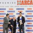 Cristiano Ronaldo a reçu le prix Di Stefano, remis par Alfredo Di Stefano, qui récompense le meilleur joueur de la saison passée du championnat espagnol lors des Trofeos Marca qui se déroulaient au palais de Cibeles à Madrid le 18 mars 2013