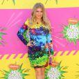 Fergie, superbe dans sa robe Mary Katrantzou accessoirisée de sandales de sa marque éponyme lors des 26e Kids' Choice Awards à l'USC Galen Center. Los Angeles, le 23 mars 2013.