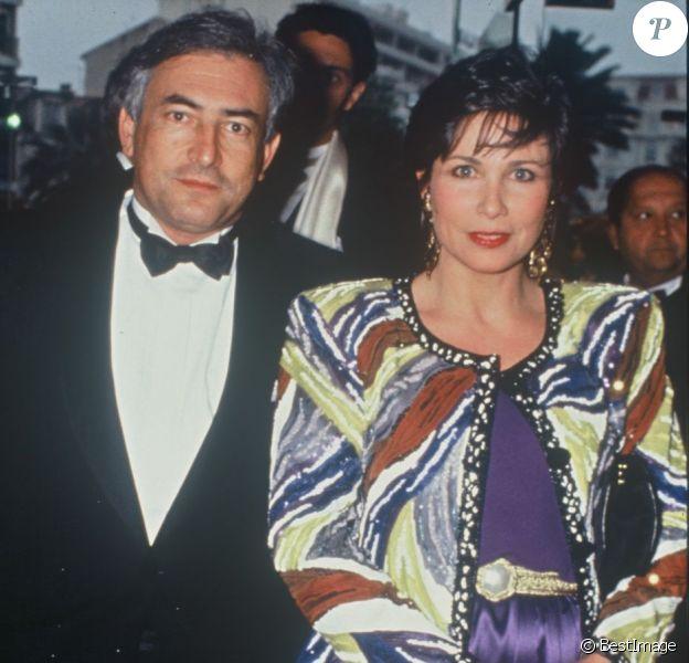 Anne Sinclair et Dominique Strauss-Kahn à Cannes, mai 1991.