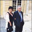 Anne Sinclair et Dominique Strauss-Kahn à Paris, le 29 juillet 1999.