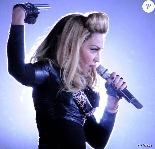 Madonna en concert à Buenos Aires en Argentine, le 15 décembre 2012.