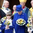 La reine Elizabeth II se déplaçait le 28 mars 2013 à Oxford, accompagnée de son époux le duc d'Edimbourg, pour la messe de célébration du Jeudi saint.