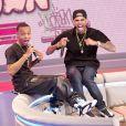 Chris Brown au BET 106 and Park à New York le 1er avril 2013. Le matin, il se confiait à Matt Lauer dans le Today Show.