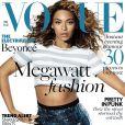Beyoncé fait la couverture du magazine Vogue, dans l'issue datée du mois de mai 2013.