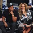Jay-Z etBeyoncé Knowles au NBA All-Star Game au Toyota Center à Houston,le 17 février 2013.