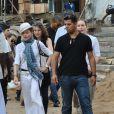 Madonna dans les rues de Blantyre au Malawi où elle est actuellement en visite, le 4 avril 2013.