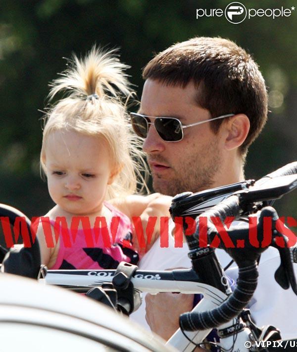 Tobey Maguire, sa fille et ... son vélo