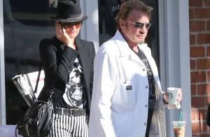 Johnny Hallyday et Laeticia : Balade complice et petit café, la vie est belle