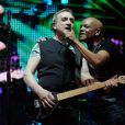 Emile et Images lors du concert Stars 80 à Bercy, le vendredi 12 avril 2013.