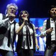 Patrick Hernandez, Lio et Jean-Luc Lahaye lors du concert Stars 80 à Bercy, le vendredi 12 avril 2013.