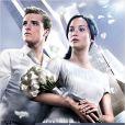 Affiche du film Hunger Games 2 : sous-titré, L'Embrasement avec Josh Hutcherson et Jennifer Lawrence