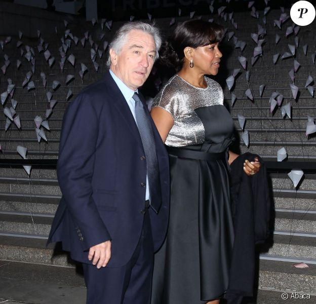 Robert De Niro et Grace Hightower à la soirée Vanity Fair pour l'ouverture du TriBeCa Film Festival à New York, le 16 avril 2013.