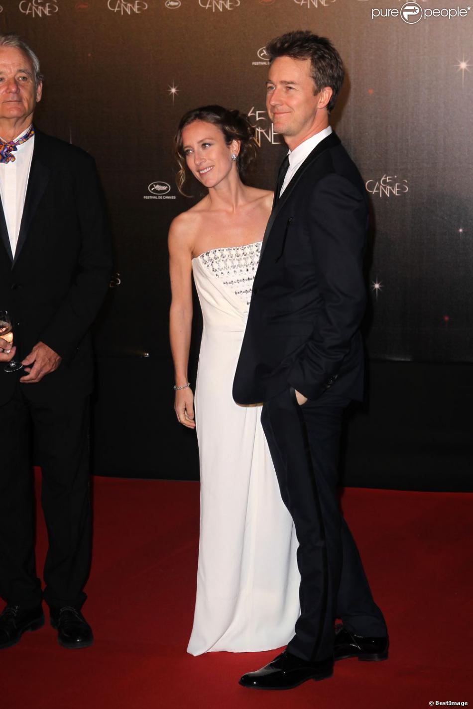Edward Norton et sa fiancée Shauna Robertson, ici au Festival de Cannes en 2012, ont eu leur premier enfant, un garçon, en mars 2013.