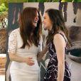 Julianne Moore et Chloë Grace Moretz très complices pendant le photocall de Carrie à Cancun, Mexique, le 18 avril 2013.