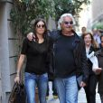 Flavio Briatore et sa femme Elisabetta Gregoraci à Milan le 18 avril 2013