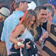 Jessica Alba et son mari Cash Warren au festival de musique de Coachella, le 19 avril 2013