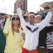 Jelena Ristic celebrates boyfriend Novak Djokovic's victory in the Monte Carlo Rolex Masters Final match Djokovic vs Rafael Nadal in Monte Carlo, Monaco on April 21, 2013. Djokovic won 6-2, 7-6 (7-1). Photo by ABACAPRESS.COM22/04/2013 - Monte Carlo