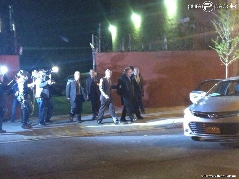La journaliste Dena Takruri poste un image du tournage du film inspiré de l'affaire DSK avec Gérard Depardieu à New York le 19 avril 2013