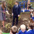La duchesse de Cambridge à l'école primaire The Willows à Manchester le 23 avril 2013.