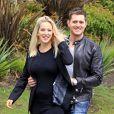 Michael Bublé et son épouse Luisana Lopilato en sortie en amoureux, à Vancouver, le 19 avril 2013.