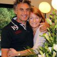 Gérard Holtz et sa nouvelle chérie Muriel Mayette le 31 août au festival des humoristes à Tournon.