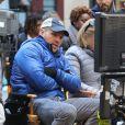 Marc Webb sur le tournage de The Amazing Spider-Man 2 à New York le 28 avril 2013.
