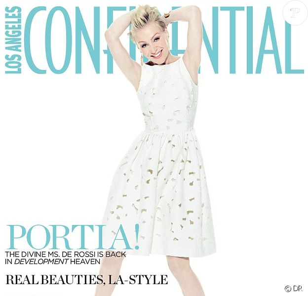 Portia De Rossi en couverture du magazine Los Angeles Confidential.