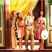 "Sarah Jessica Parker, Cynthia Nixon, Kim Cattrall et Kristin Davis dans ""Sex and The City 2"", sorti en 2010."
