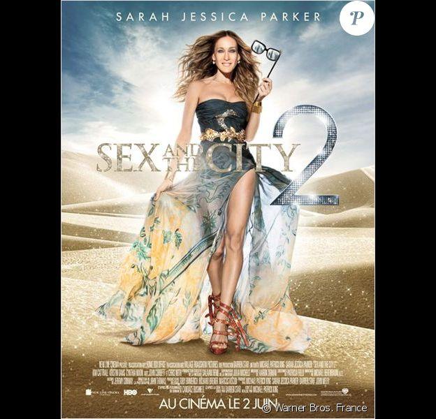 """Sarah Jessica Parker sur l'affiche de """"Sex and The City 2"""", sorti en 2010."""
