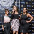 Kourtney, Khloé et Kim Kardashian célèbrent le lancement de leur Kardashian Kollection au centre commercial Sears à Houston. Le 4 mai 2013.