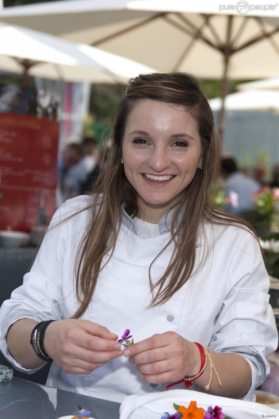 Noémie Honiat, de Top Chef 2012 à Cagnes-sur-Mer, le 10 mai 2012.