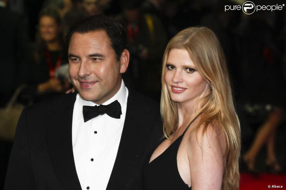 David Walliams et sa femme Lara Stone en octobre 2012