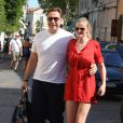 Le top Lara Stone et husband David Walliams en vacances à St-Tropez en août 2012