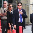 Charlie Sheen et Denise Richards se rendent au tribunal de Los Angeles. Il était question de savoir qui aurait la garde des jumeaux Bob et Max, fils de l'acteur et de Brooke Mueller, internée pour être retombée dans la drogue. Photo prise le 7 mai 2013.