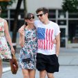 Keira Knightley et James Righton dans les ues de New York le 1er juillet 2012.