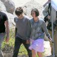 Keira Knightley et James Righton sur le tournage d'un film là Malibu, le 26 mai 2011.