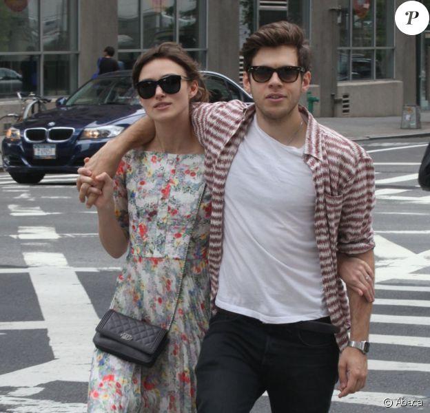 Keira Knightley et James Righton à New York le 5 août 2012.