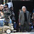 "Abel Ferrara sur le tournage de son film ""Welcome To New York"" a New York, le 25 avril 2013."