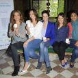 Sandrine Quétier, Julia Vignali, Nathalie Renoux, Pascale de la Tour du Pin, Patricia Loison à la conférence de presse de l'opération La Flamme Marie Claire à l'hôtel le Marois à Paris, le 16 mai 2013.