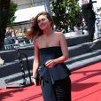Julie Gayet lors de la montée des marches du film Un château en Italie au Festival de Cannes le 20 mai 2013