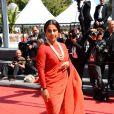 Vidya Balan lors de la montée des marches du film Un château en Italie au Festival de Cannes le 20 mai 2013