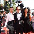 Vincent Perez, Karine Silla et Virginie Silla lors de la montée des marches du film Un château en Italie au Festival de Cannes le 20 mai 2013