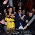 Goga Ashkenazi et un faux Psy pendant la soirée Vionnet à l'occasion du 66e Festival de Cannes 2013, le 20 avril 2013.