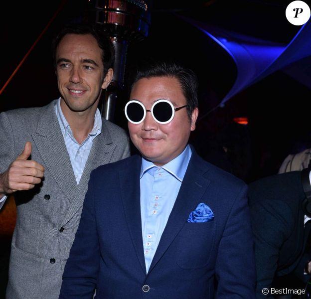Le sosie de Psy s'invite à la soirée Vionnet à l'occasion du 66e Festival de Cannes 2013, le 20 avril 2013.