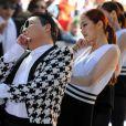 Le chanteur Psy en concert sur l'émission Today show à New York le 3 mai 2013.